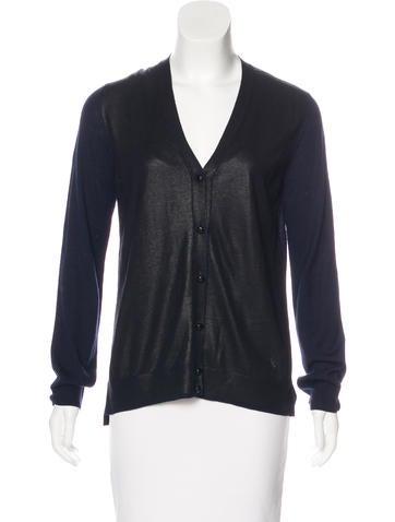 Louis Vuitton Metallic Knit Cardigan None