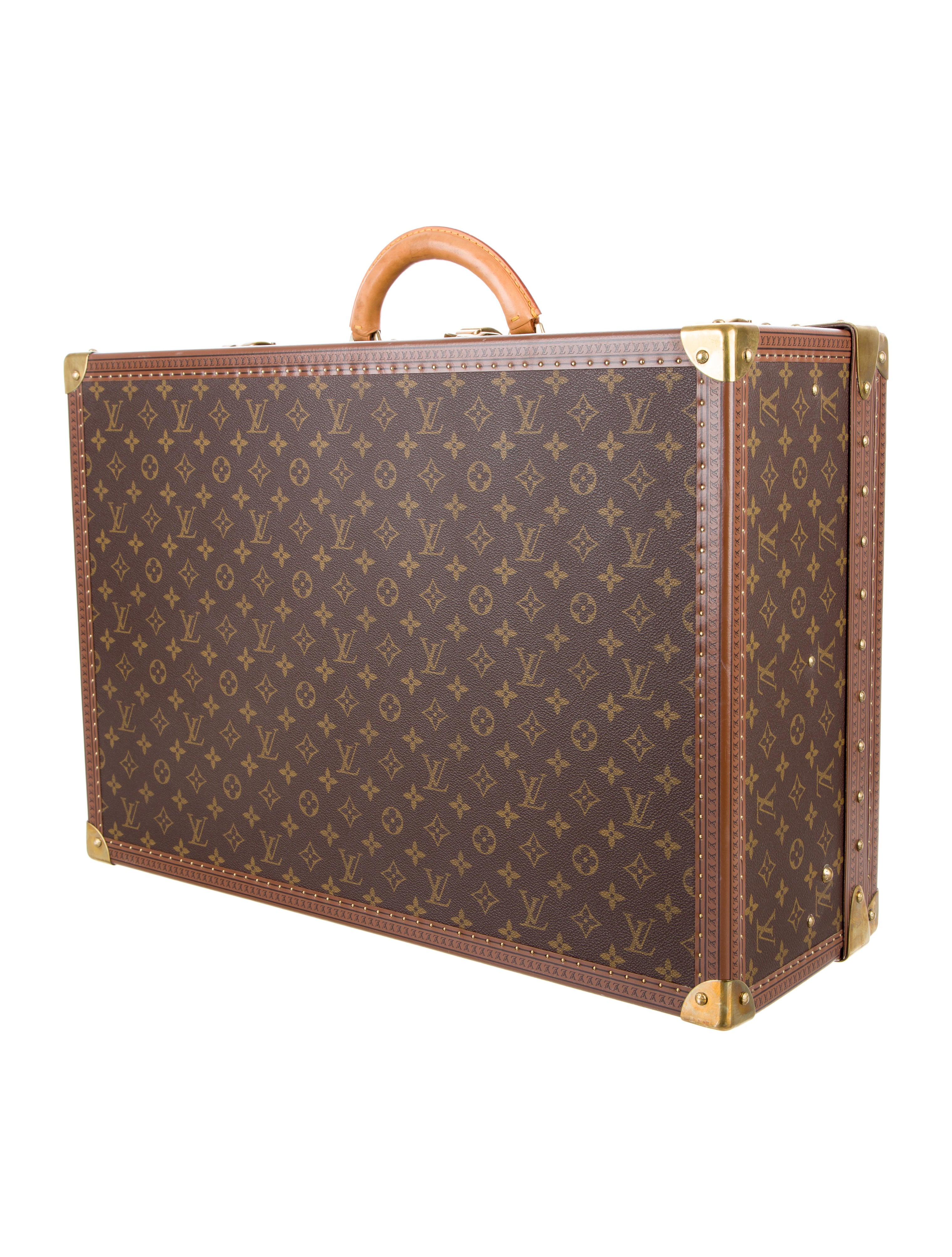 louis vuitton monogram alzer 60 trunk luggage lou128145 the realreal. Black Bedroom Furniture Sets. Home Design Ideas
