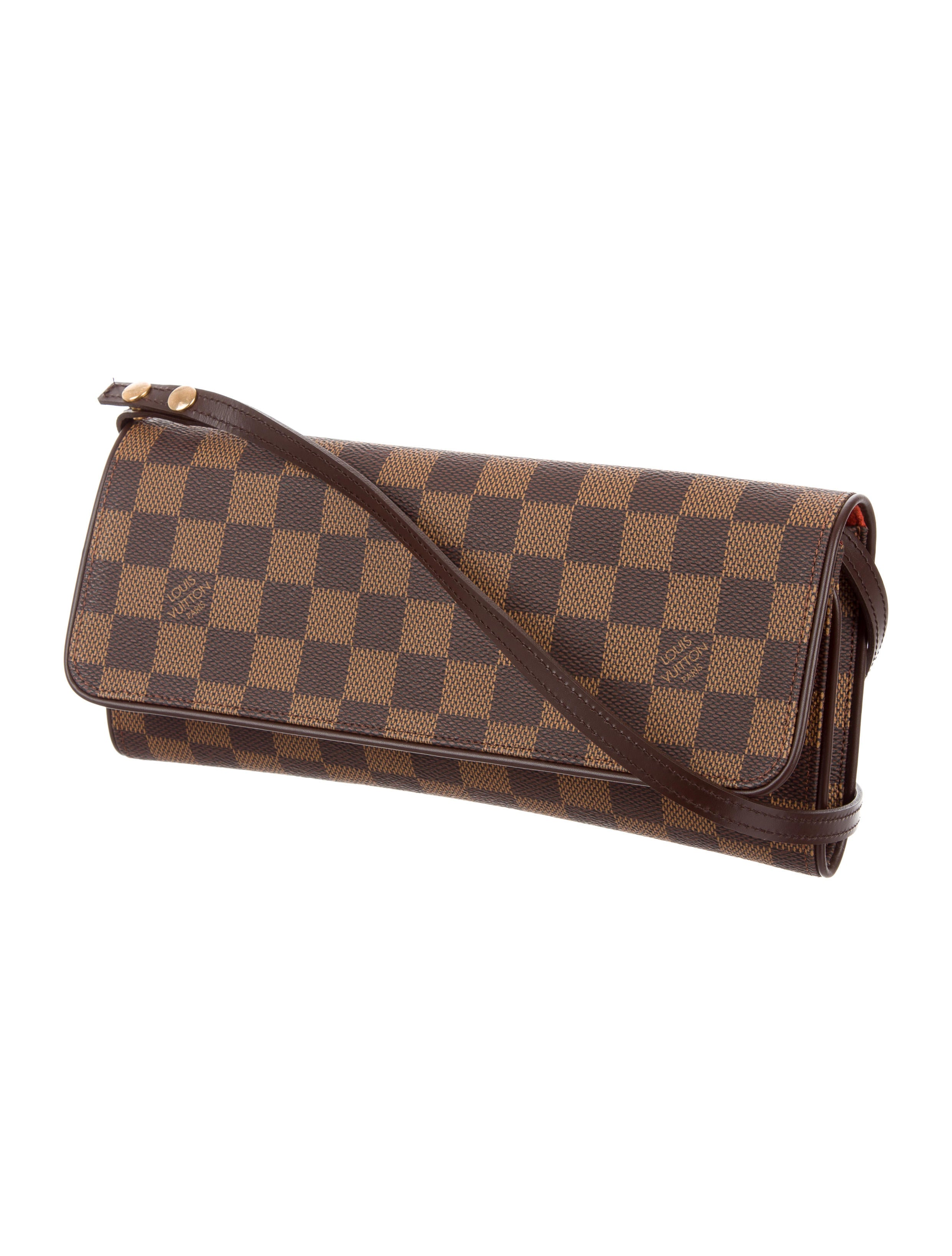 louis vuitton damier ebene pochette twin gm handbags. Black Bedroom Furniture Sets. Home Design Ideas