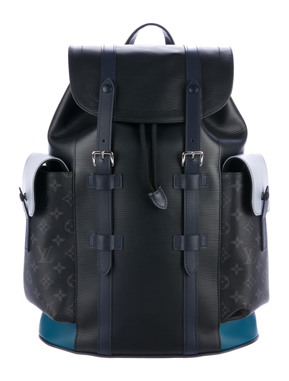 c217956385dd Louis Vuitton 2017 Epi Monogram Eclipse Christopher PM Backpack ...