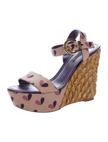 louis vuitton satin wedge sandals shoes lou128761