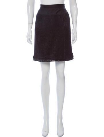 Louis Vuitton KNee-Length Rib Knit Skirt None