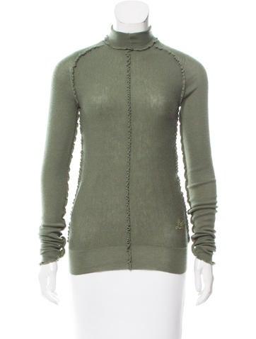 Louis Vuitton Ruffle-Trimmed Turtleneck Sweater None