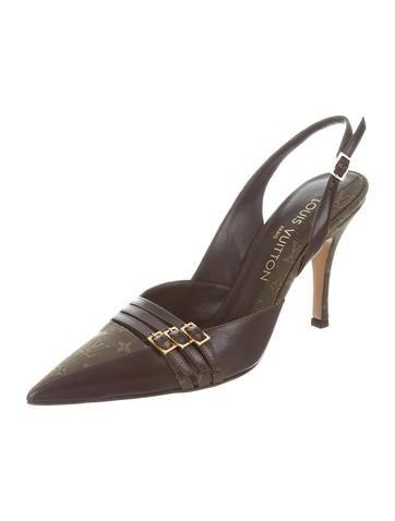 louis vuitton designer shoes. louis vuitton monogram slingback pumps w/ tags designer shoes