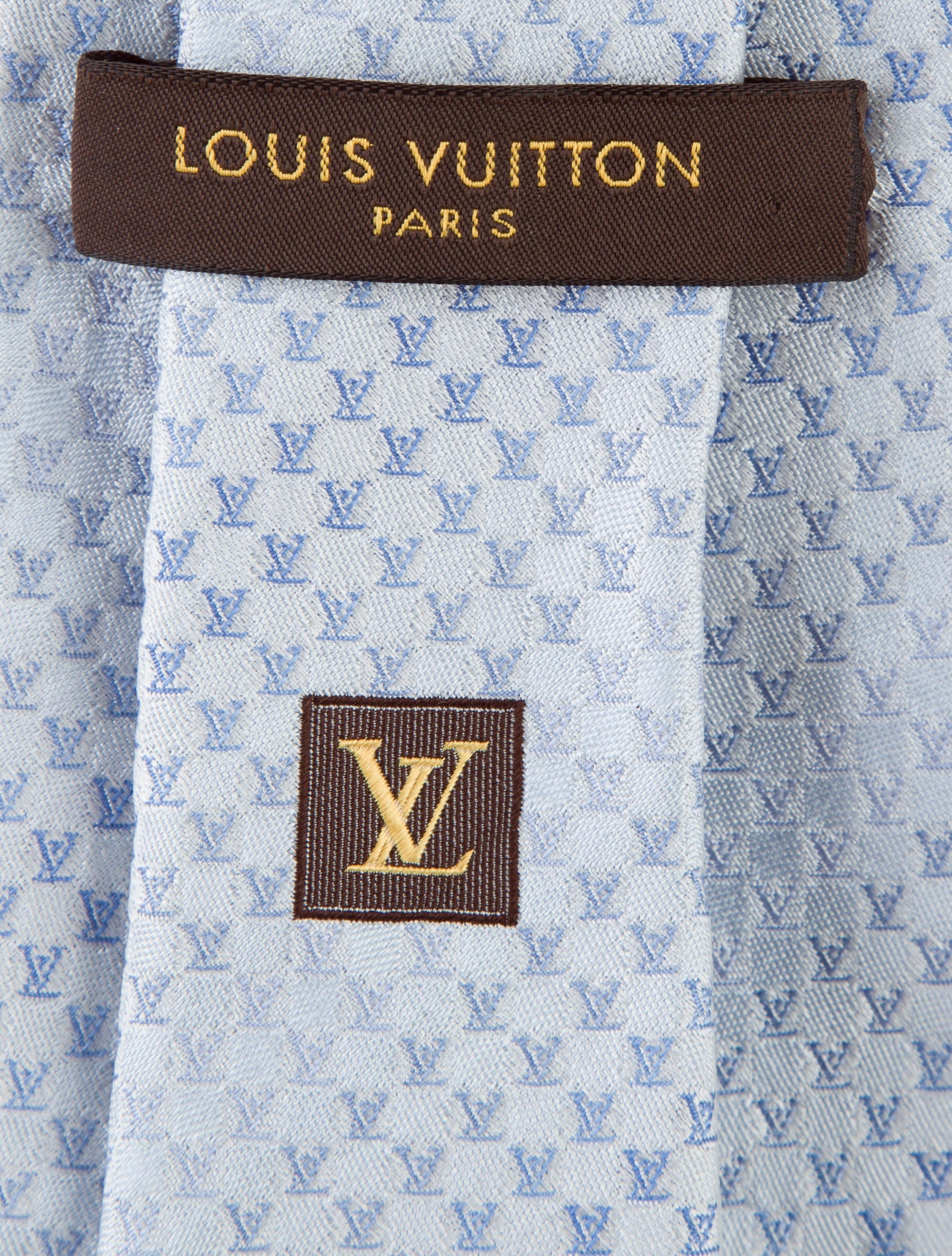 Louis Vuitton Logo Print Silk Tie - Suiting Accessories ...