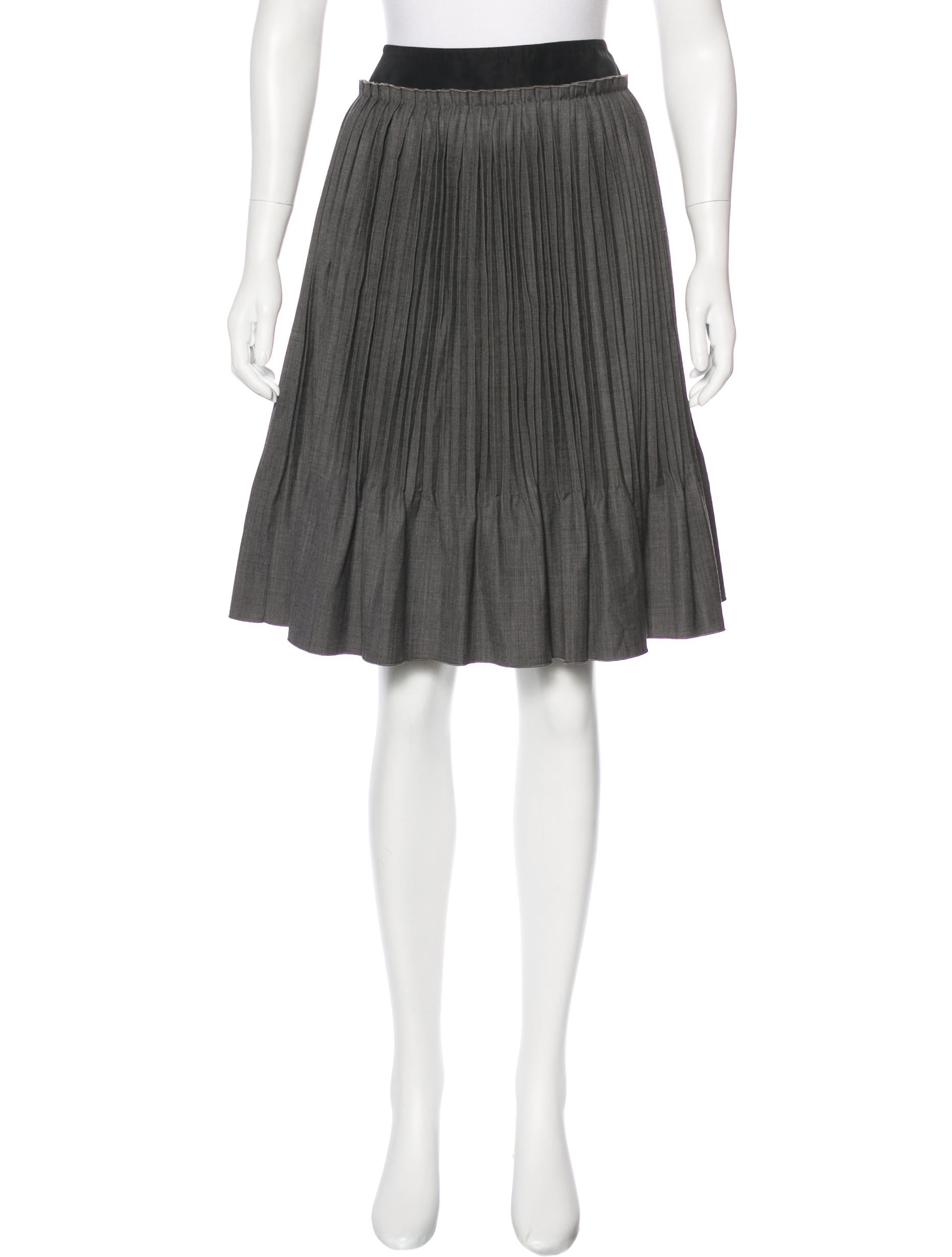 louis vuitton pleated wool skirt clothing lou129684