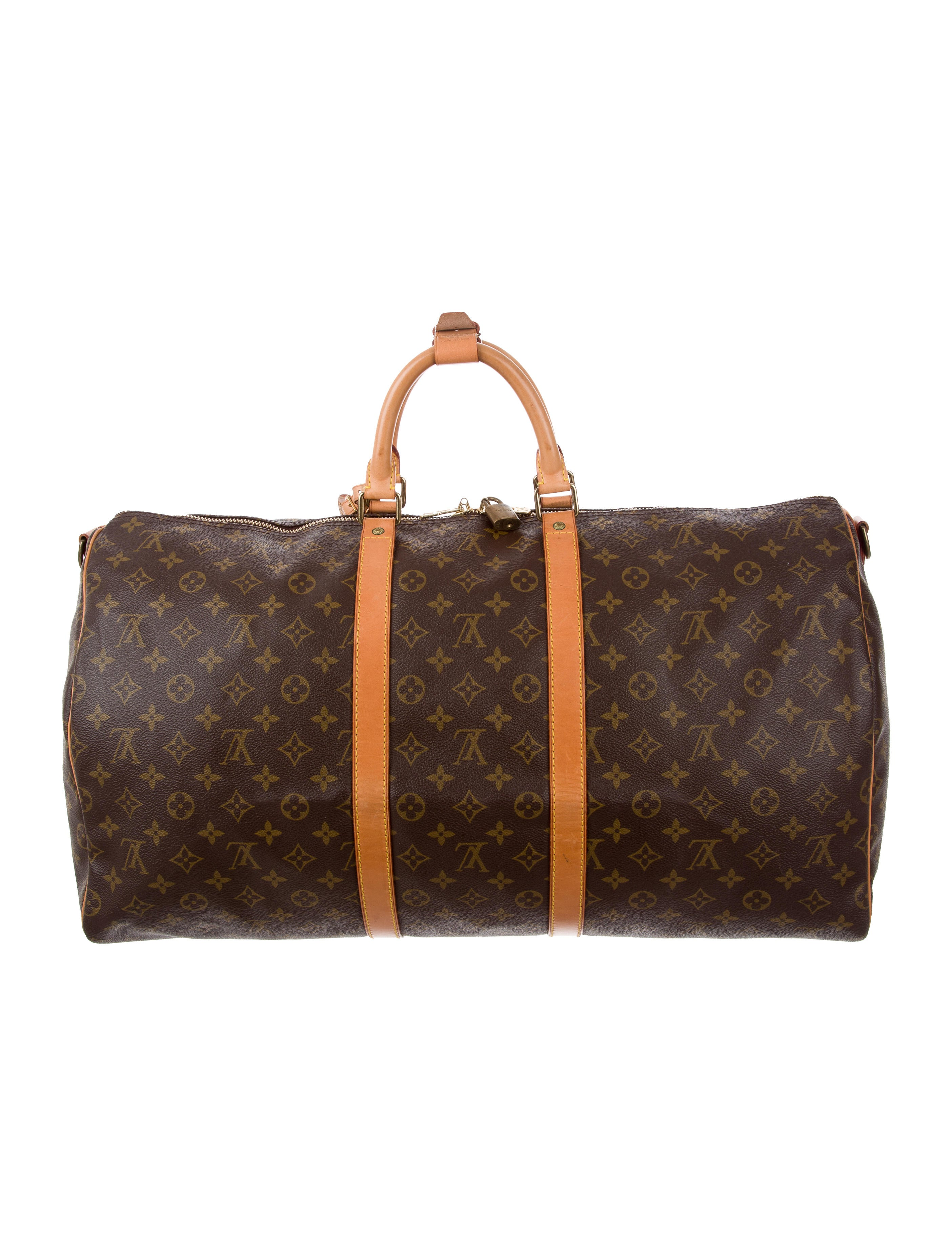 louis vuitton monogram keepall bandouli re 55 handbags lou129723 the realreal. Black Bedroom Furniture Sets. Home Design Ideas