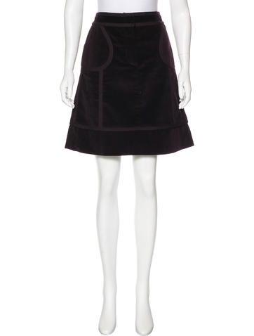 louis vuitton knee length corduroy skirt clothing