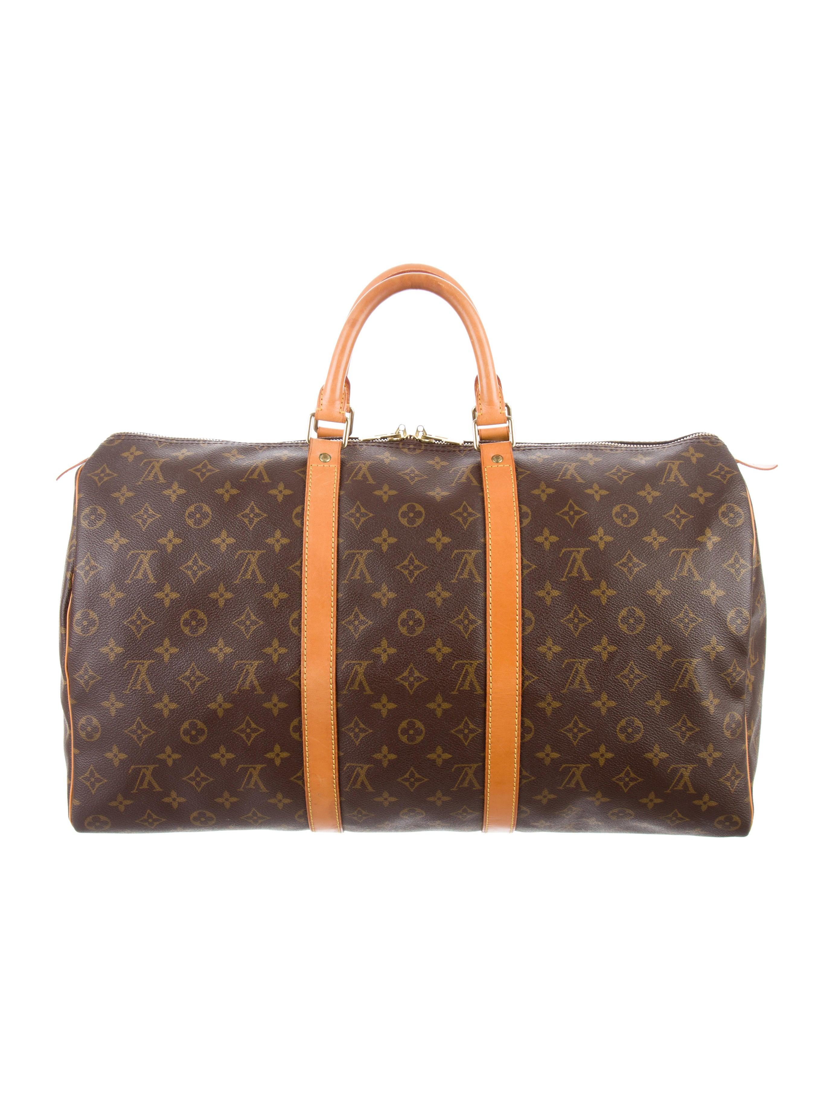 louis vuitton monogram keepall 50 handbags lou129783. Black Bedroom Furniture Sets. Home Design Ideas