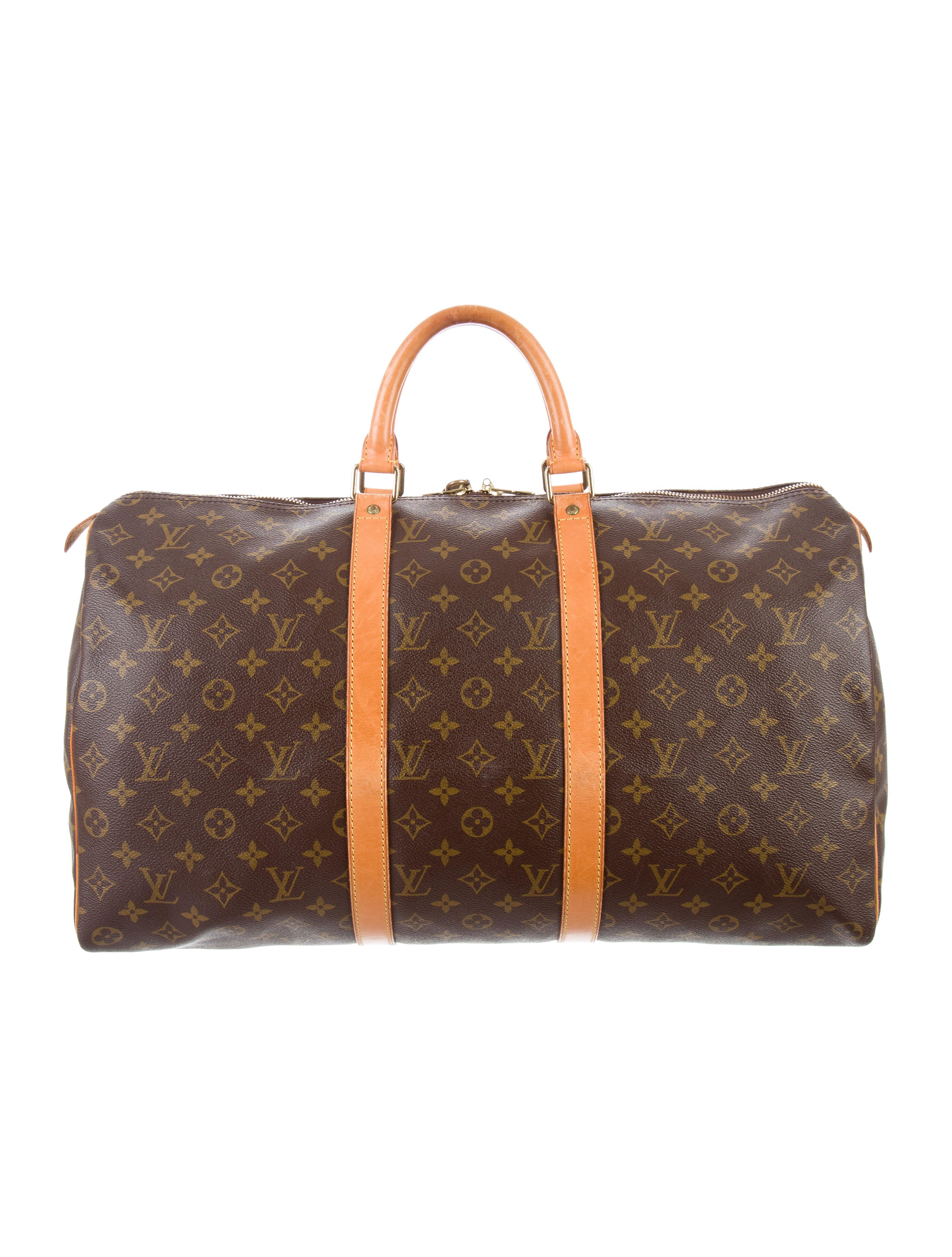 louis vuitton monogram keepall 45 bags lou129886 the realreal. Black Bedroom Furniture Sets. Home Design Ideas
