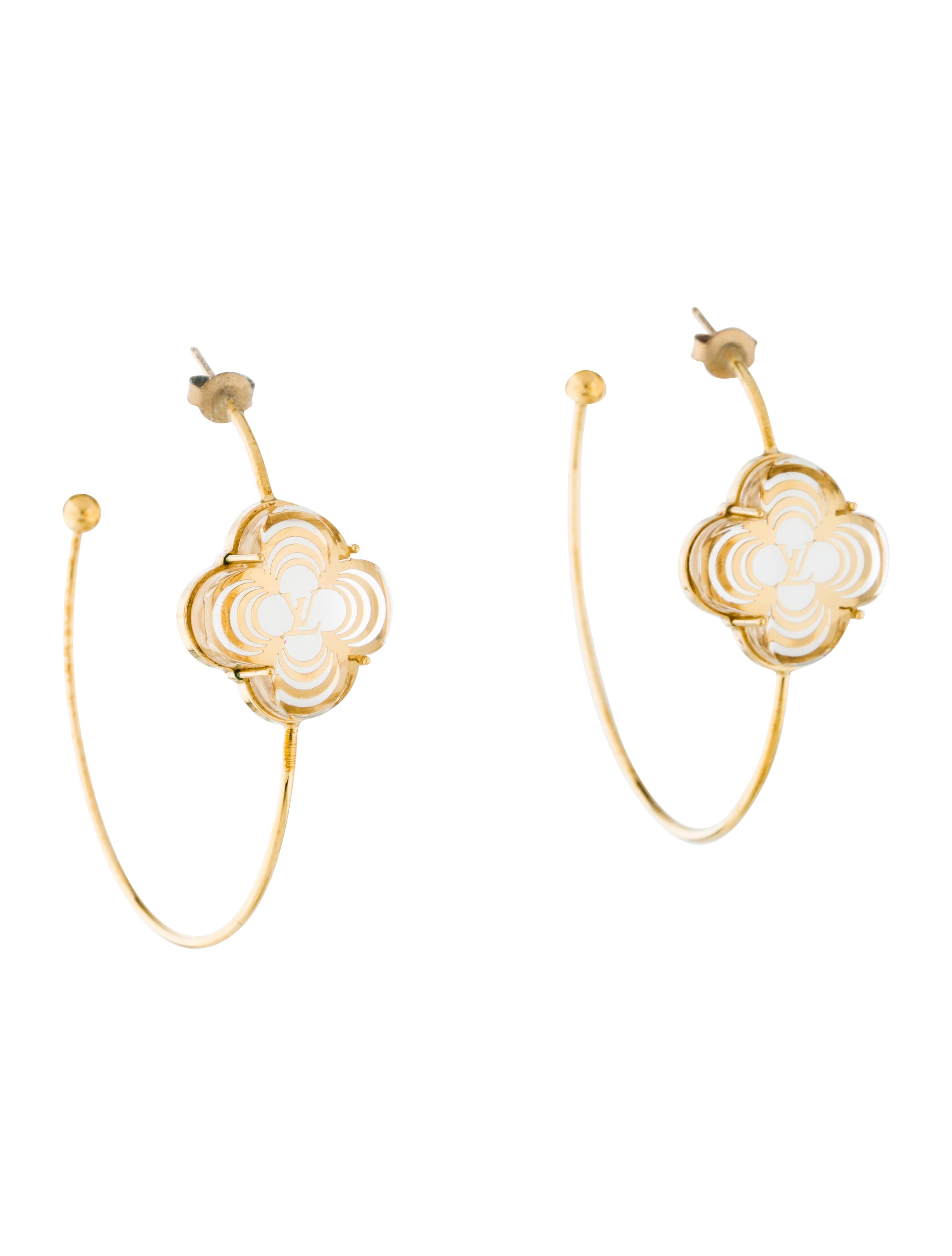 fe6df9ae3 Louis Vuitton A La Folie Hoop Earrings - Earrings - LOU129991   The ...