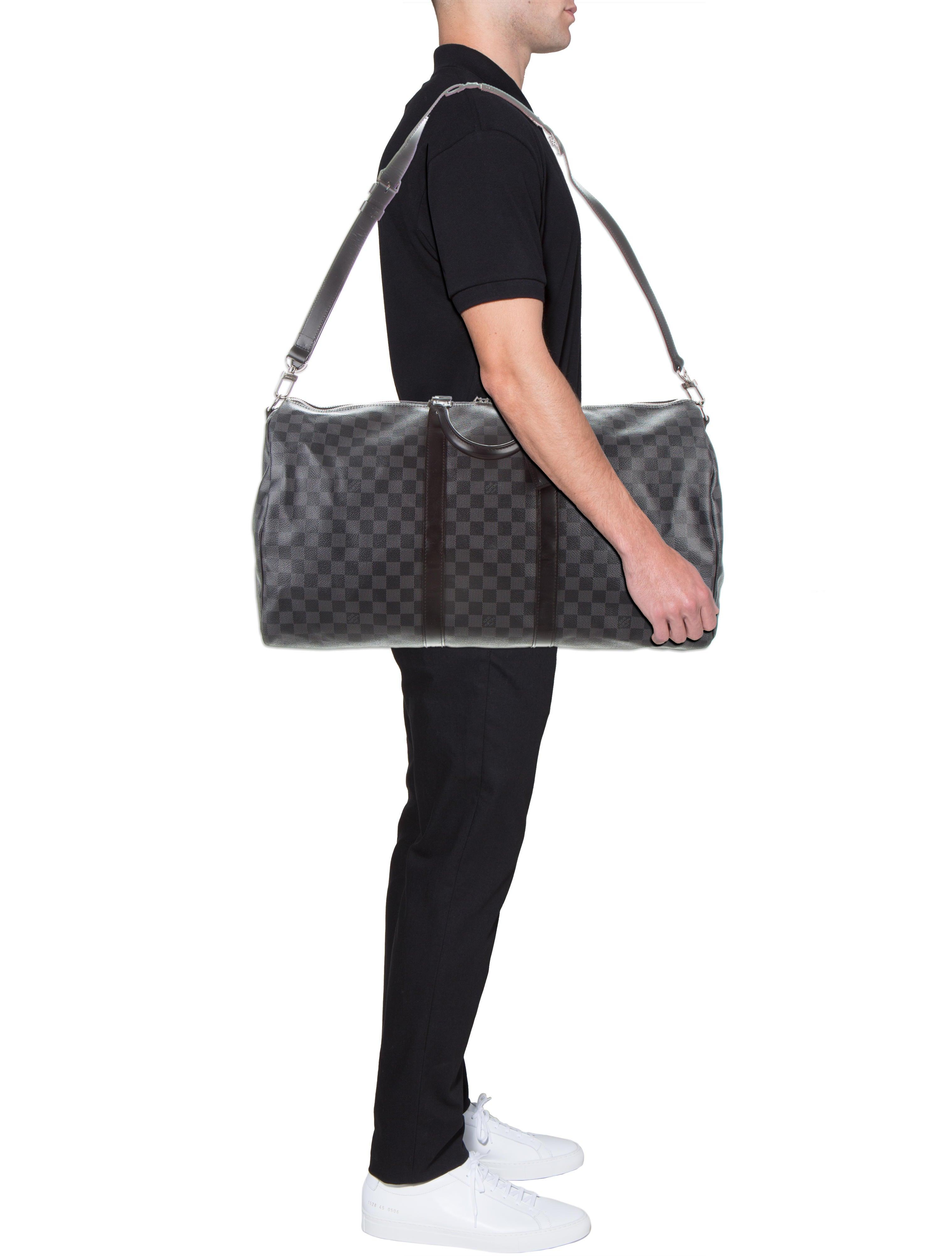 Louis Vuitton Damier Graphite Keepall Bandoulière 55 - Bags ... 91aa9d97c1