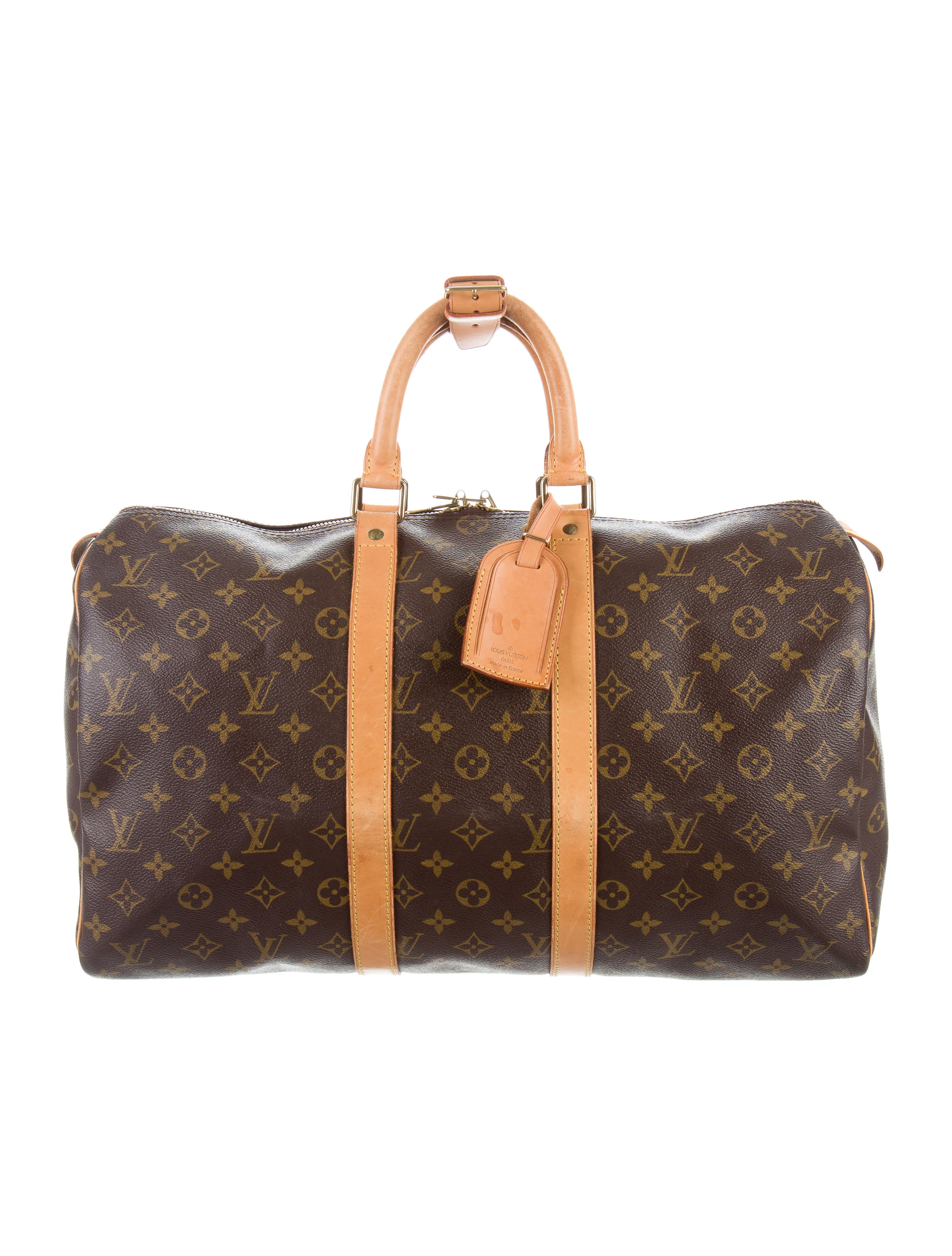 louis vuitton monogram keepall 45 bags lou130174 the realreal. Black Bedroom Furniture Sets. Home Design Ideas