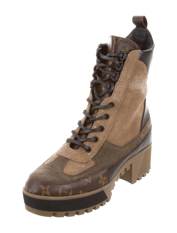 c46974d154fb Louis Vuitton 2017 Laureate Platform Desert Boots - Shoes .