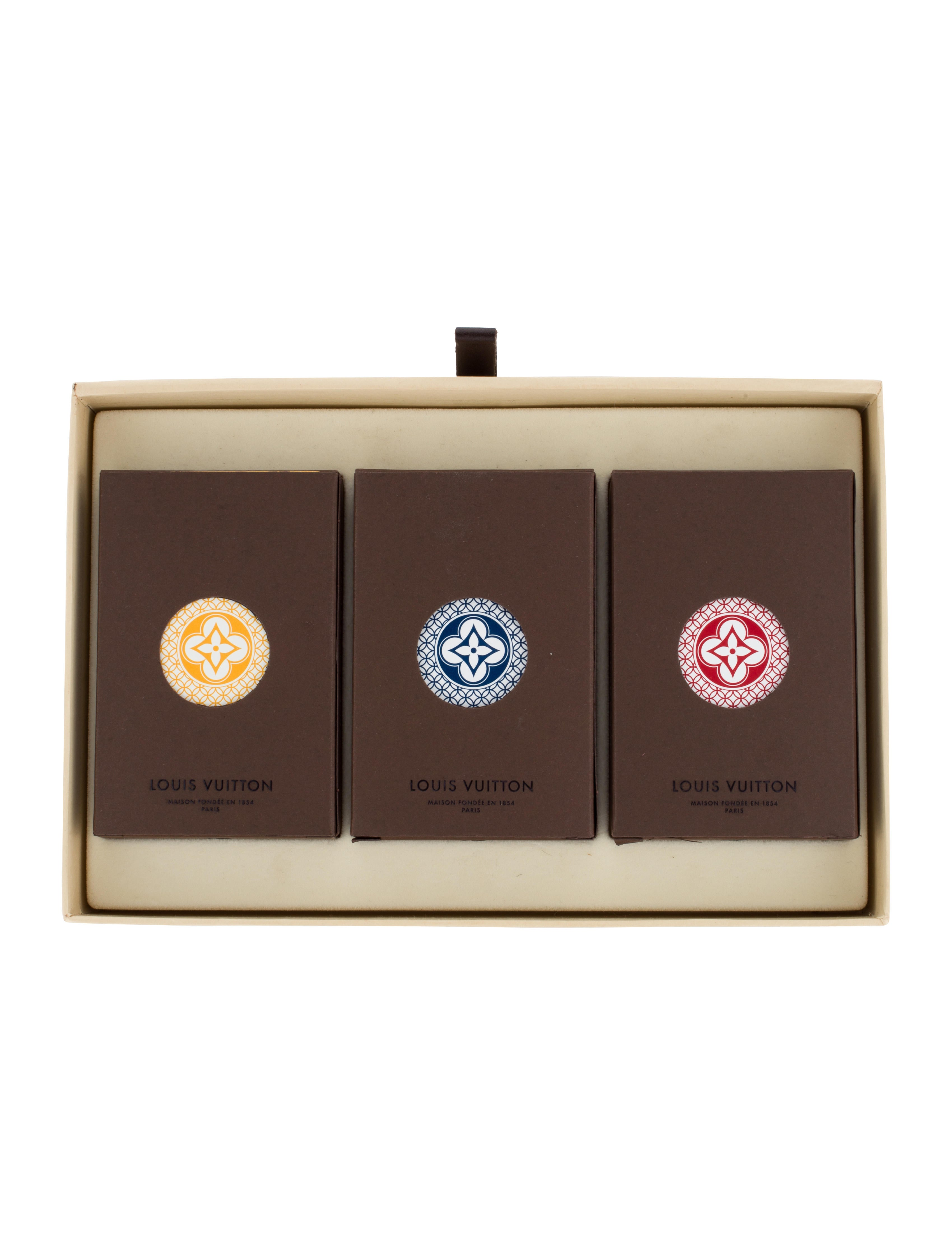 Louis vuitton set of three playing card set decor and for Table 52 cards