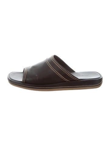 louis vuitton designer shoes. louis vuitton leather slide sandals designer shoes