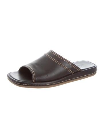 louis vuitton shoes for men. louis vuitton leather slide sandals shoes for men