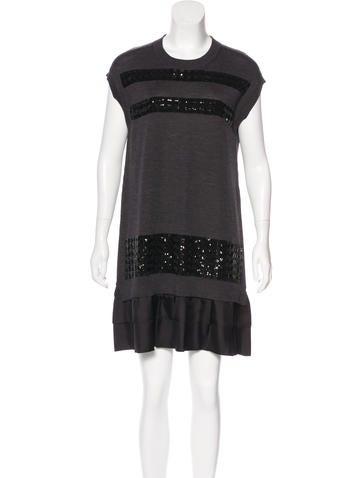 Louis Vuitton Sequin Wool Dress None