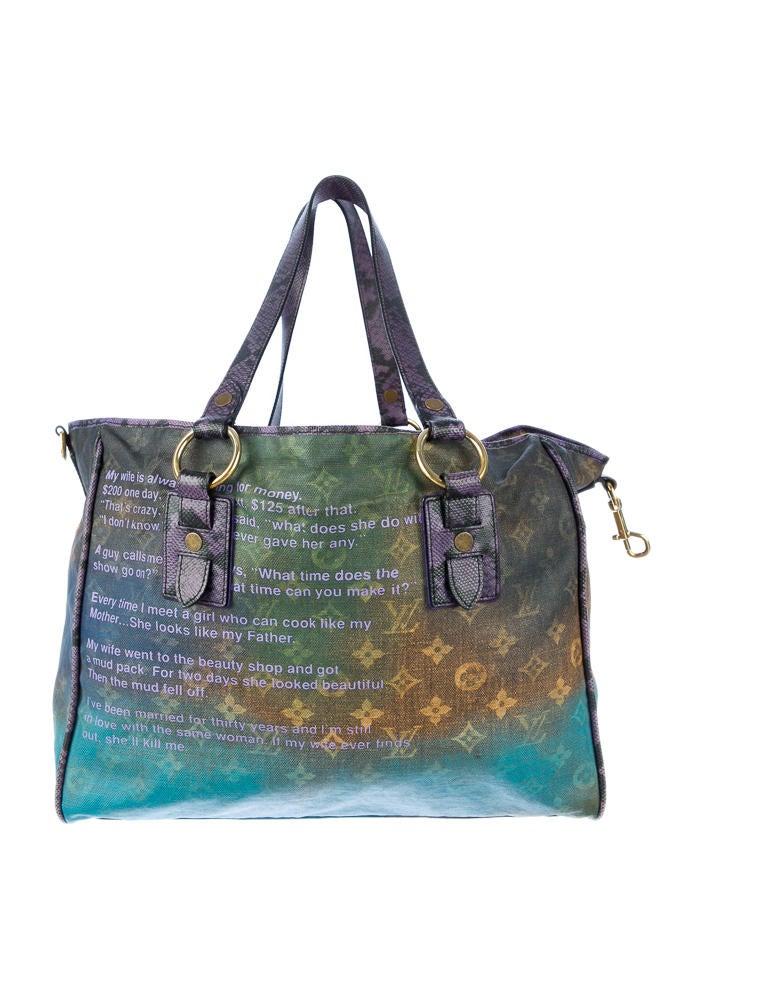 Louis Vuitton Richard Prince Heartbreak Jokes Tote Handbags
