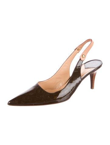 louis vuitton designer shoes. louis vuitton monogram slingback pumps designer shoes f