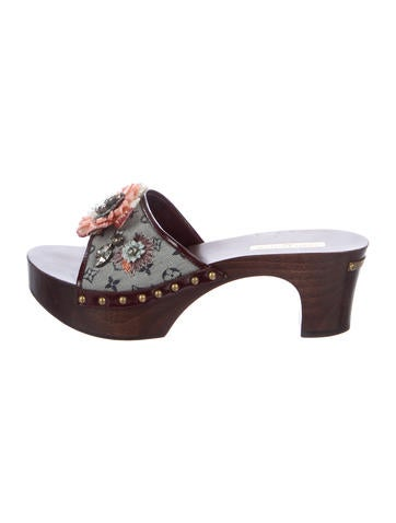 Louis Vuitton Mini Lin Floral Sandals None