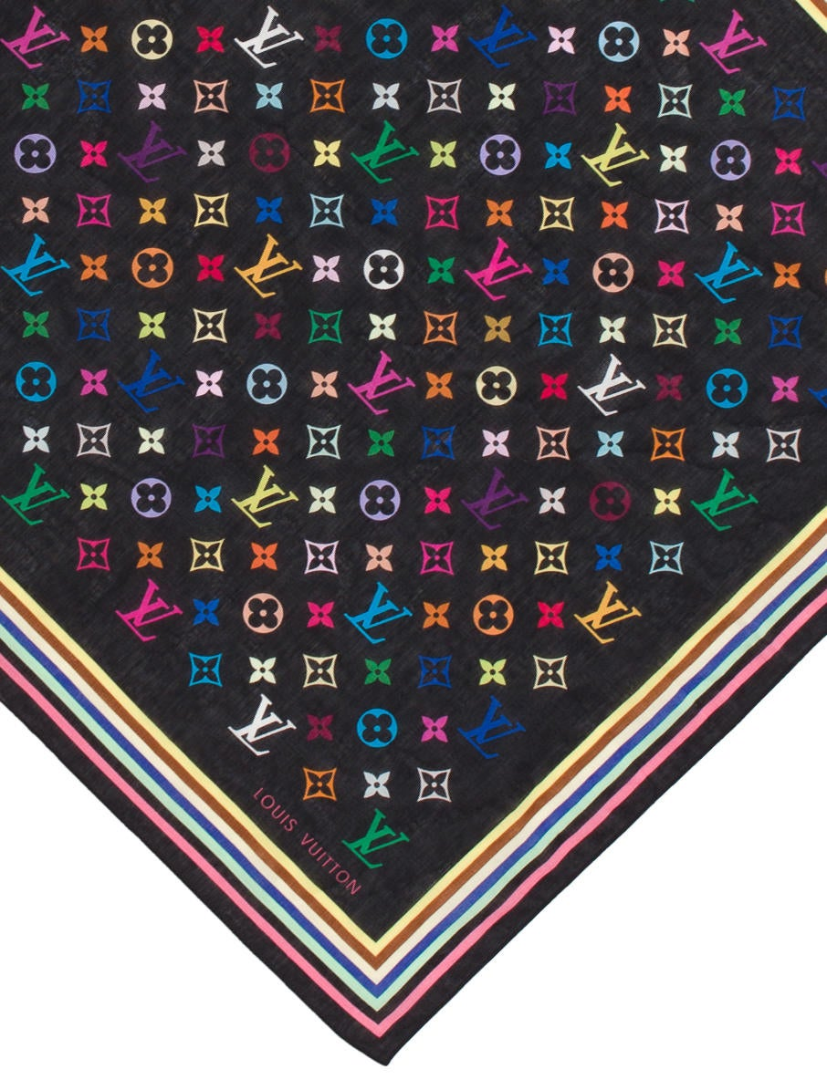 louis vuitton multicolore monogram bandana - suiting accessories