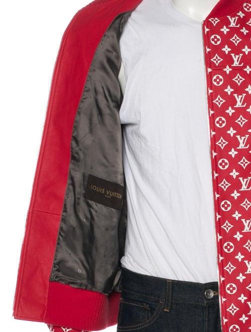 fd588d7c6 Louis Vuitton x Supreme 2017 Monogram Leather Bomber Jacket w/ Tags ...