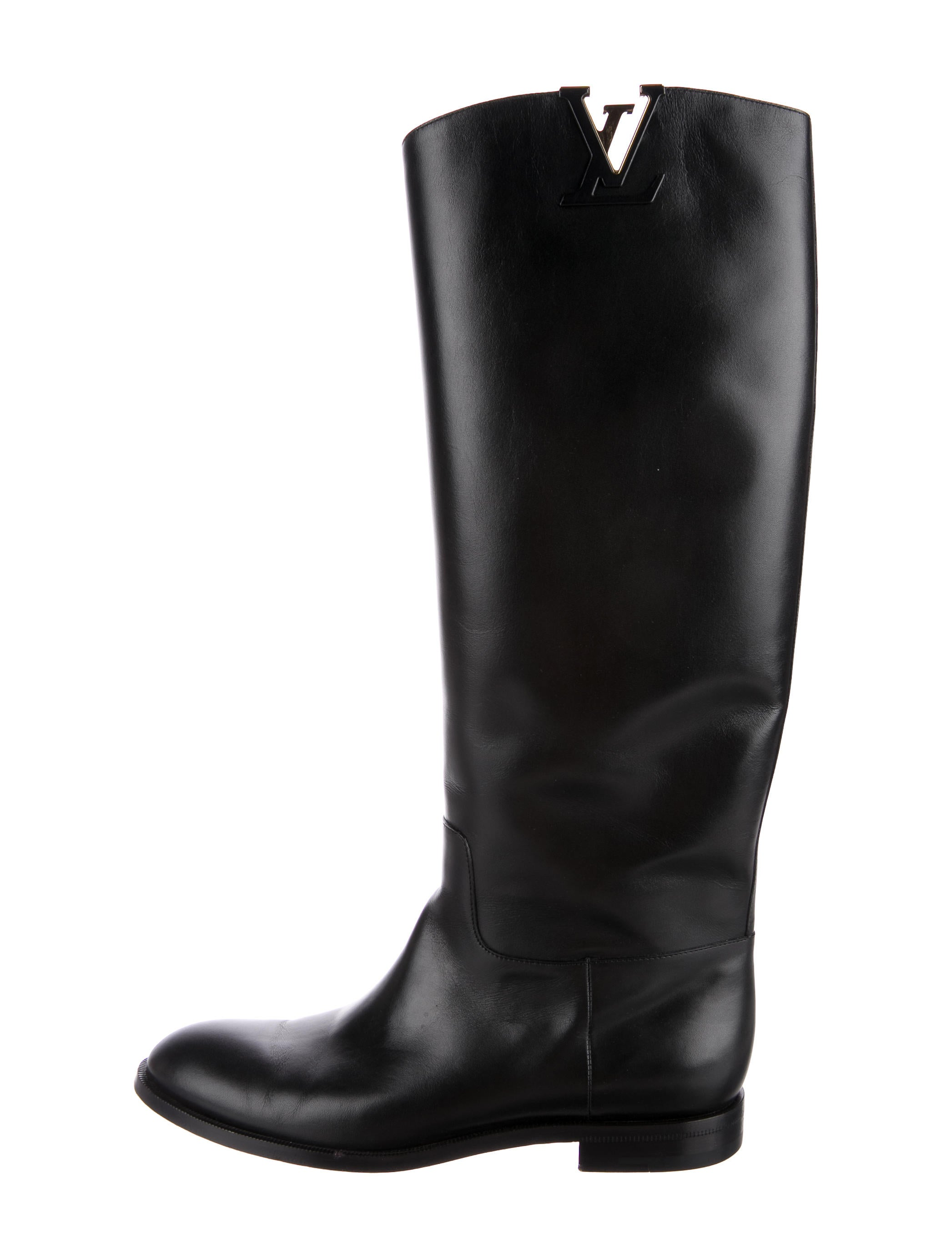 louis vuitton leather initiales knee high boots shoes
