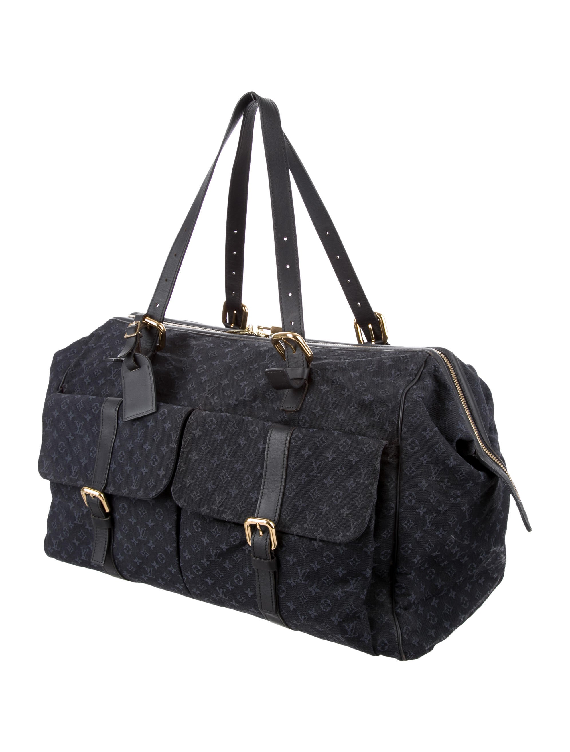 louis vuitton mini lin louise weekender bags lou131892 the realreal. Black Bedroom Furniture Sets. Home Design Ideas