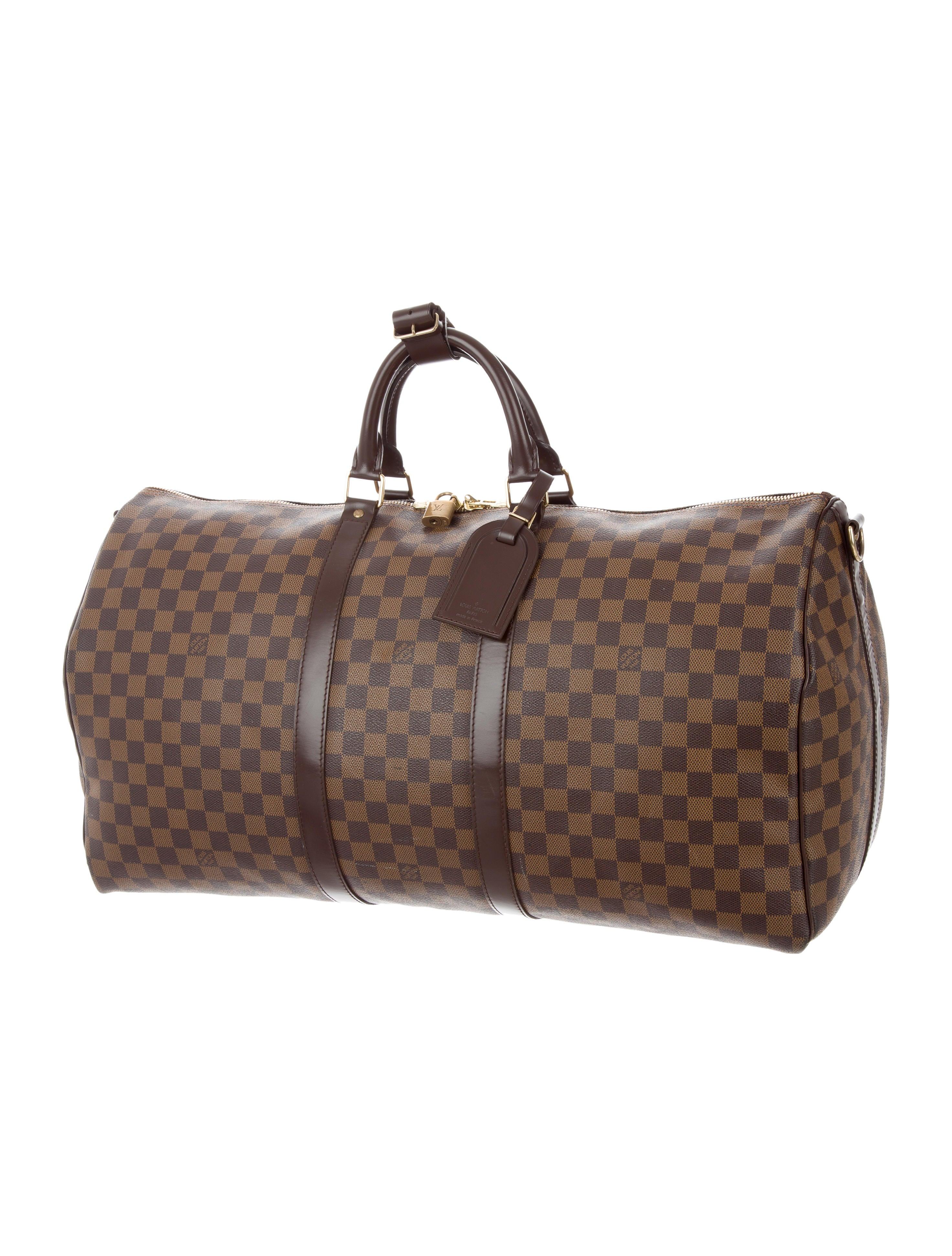 c3e948b7c5c81 Louis Vuitton Damier Ebene Keepall Bandoulière 55 - Bags - LOU132404