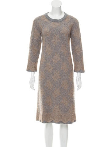 Louis Vuitton Wool Sweater Dress None