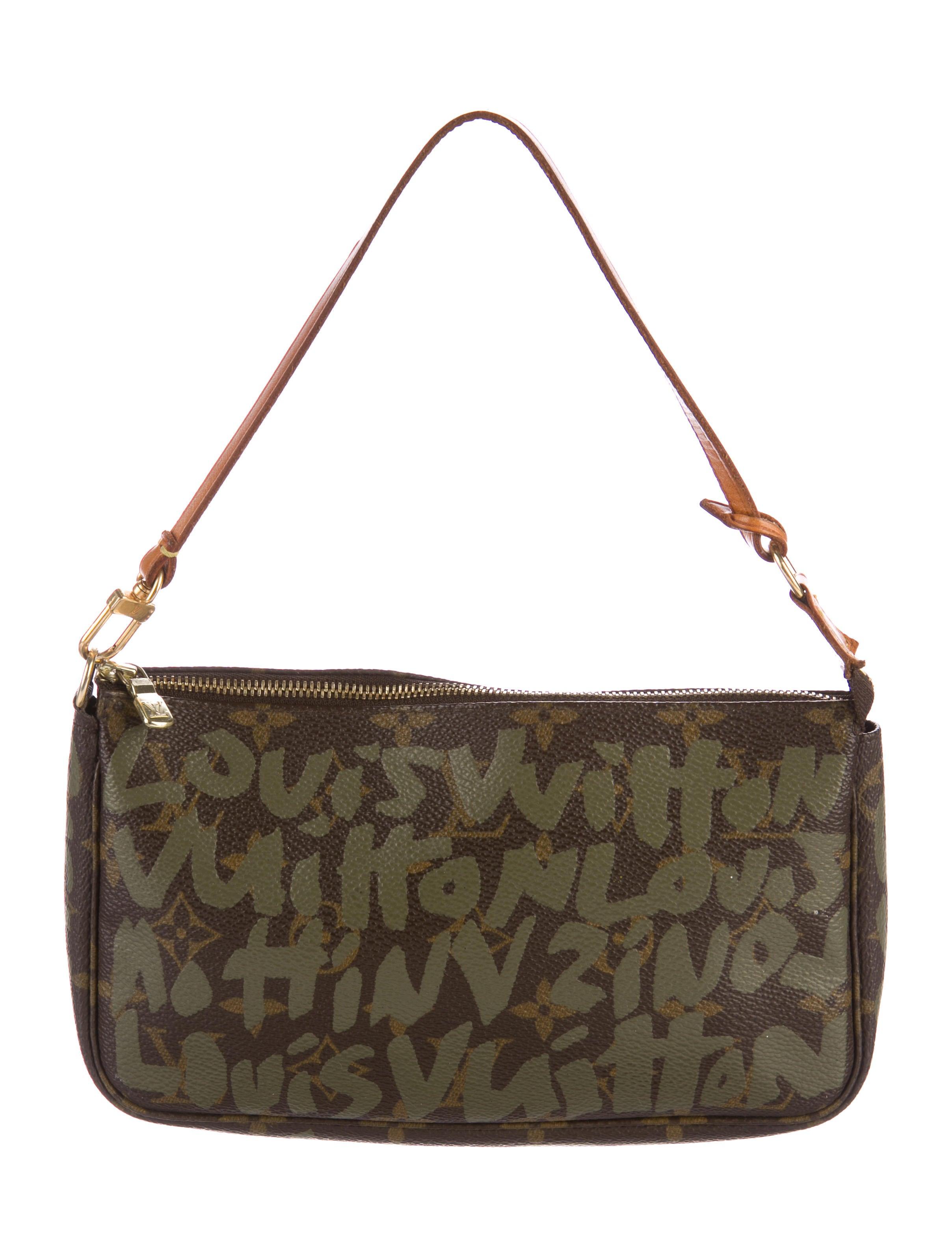 louis vuitton graffiti pochette accessoires handbags. Black Bedroom Furniture Sets. Home Design Ideas
