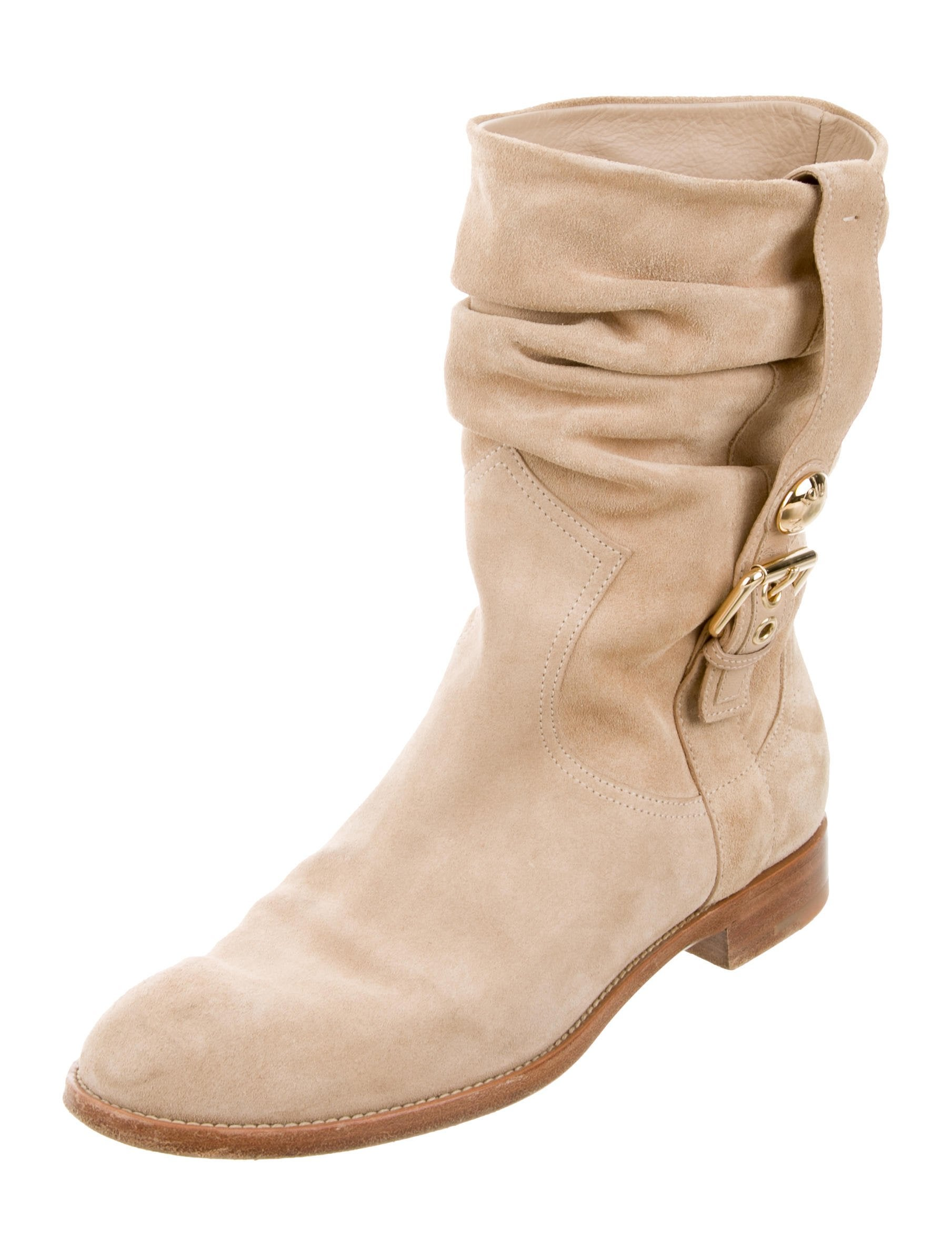 louis vuitton suede mid calf boots shoes lou133810