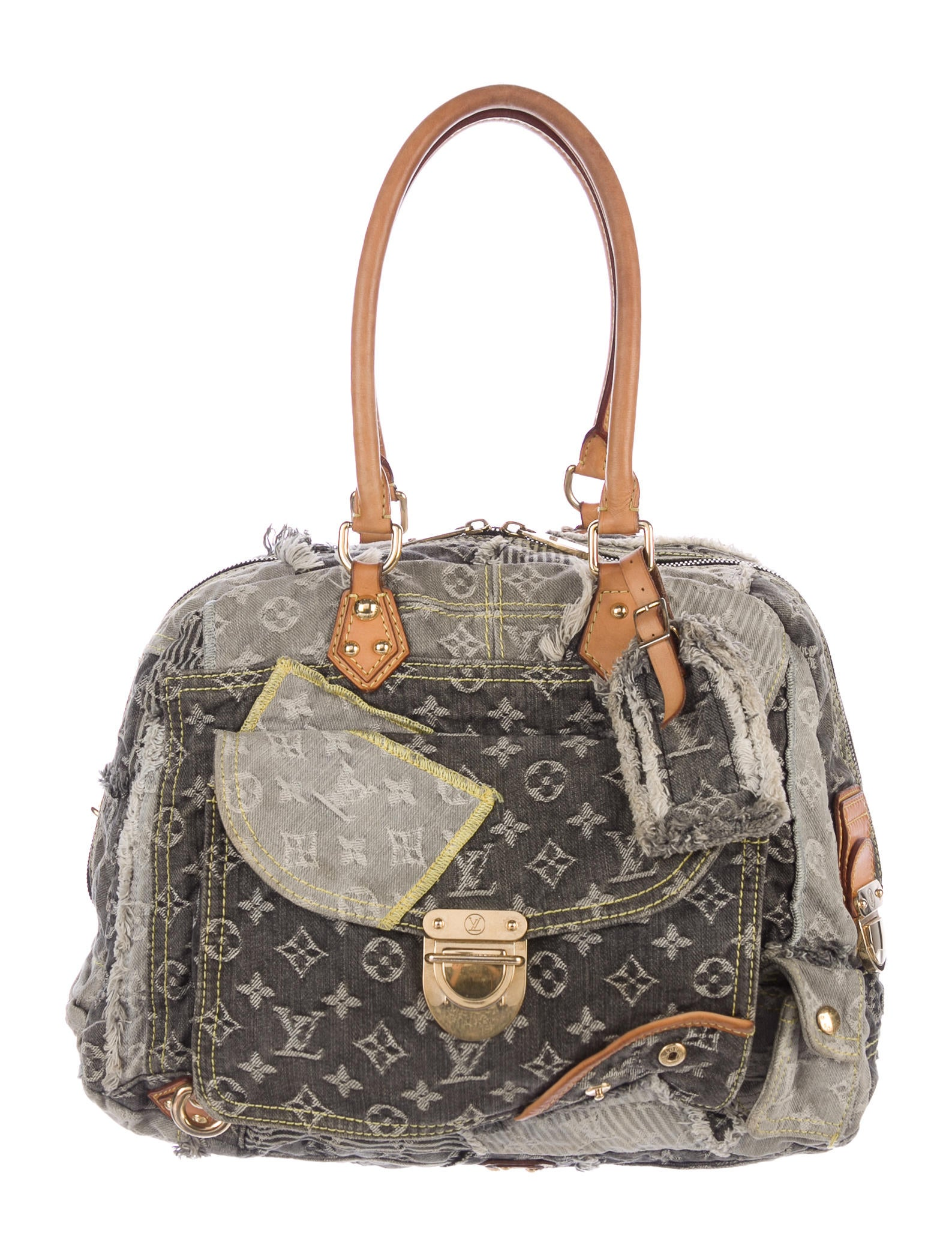 Louis Vuitton Patchwork Denim Bowly Bag - Handbags - LOU134079 | The RealReal