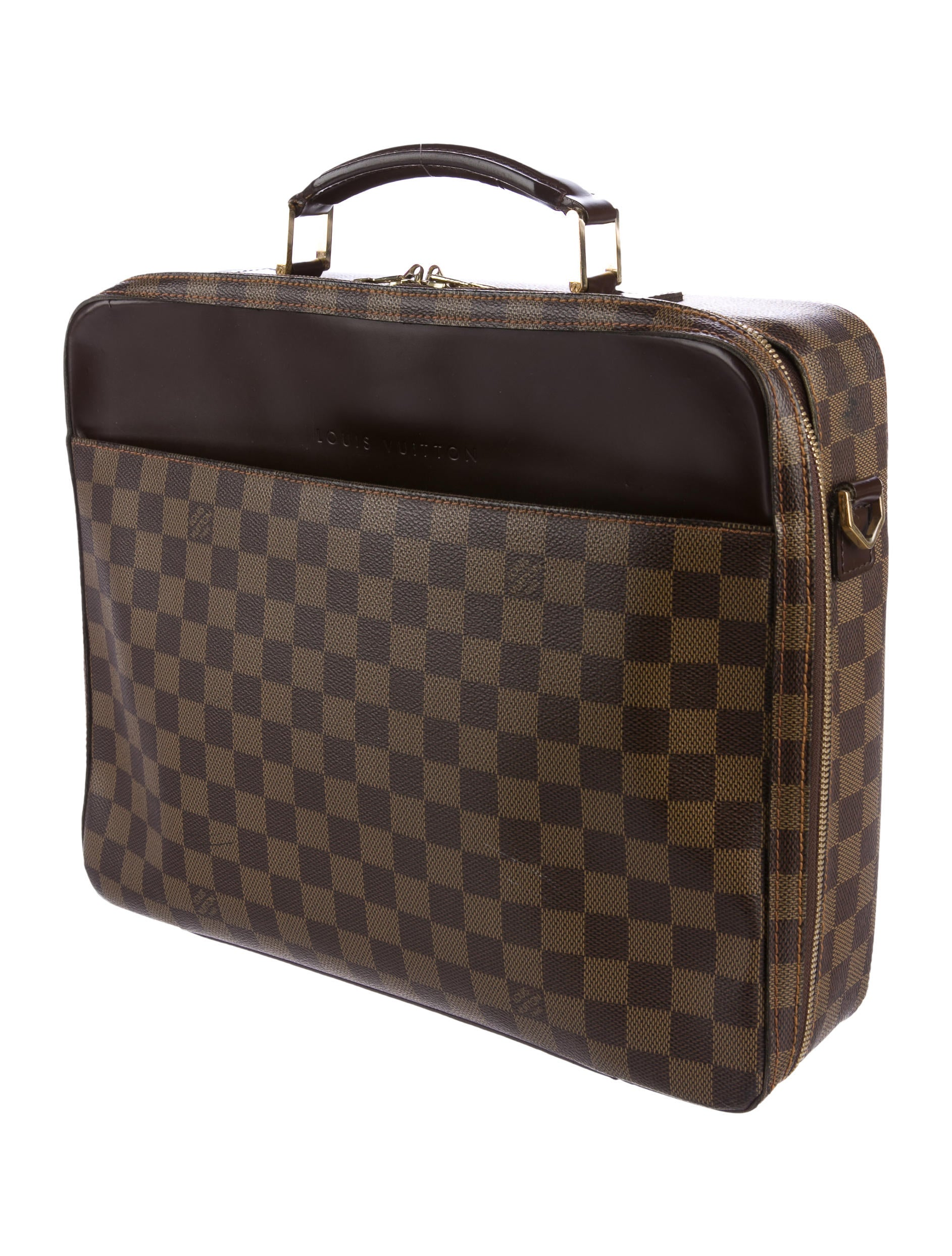 Louis vuitton damier ebene porte ordinateur sabana bags for Porte ordinateur