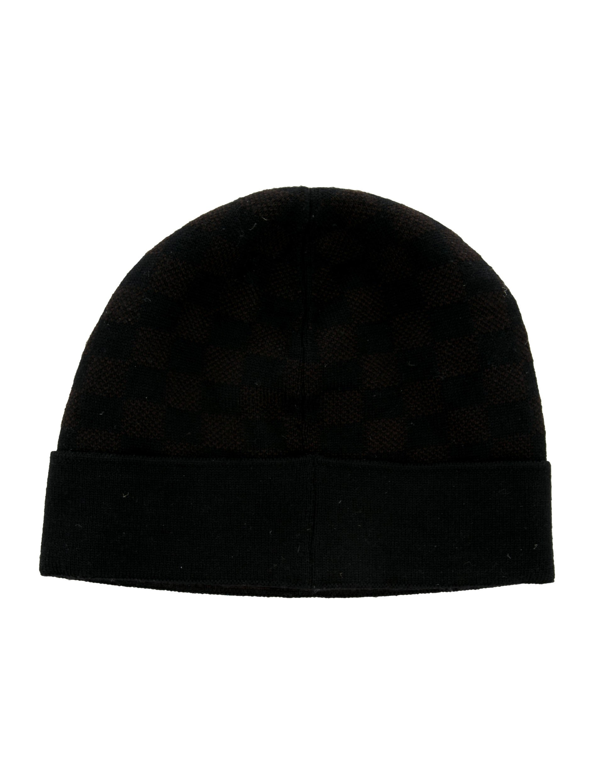 23565394707 LOUIS VUITTON Wool Petit Damier Hat NM Graphite 157754. Louis Vuitton Petit  Damier Beanie - Accessories - LOU134373