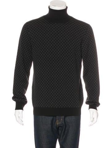 Louis Vuitton Wool Damier Graphite Sweater None