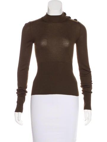 Louis Vuitton Cashmere Mock Neck Sweater None