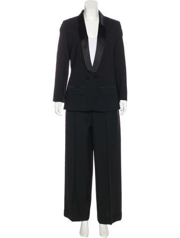 Louis Vuitton Wool-Blend Pantsuit None
