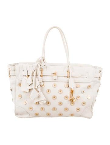 Louis Vuitton Polka Dot Panama Big Steamer Bag None