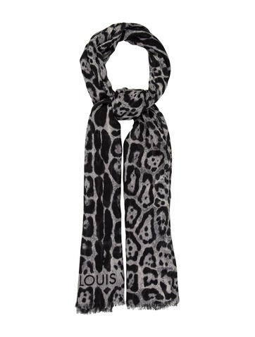 Louis Vuitton Cashmere & Silk-Blend Leopard Scarf None