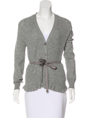 Louis Vuitton Rib Knit Cardigan None