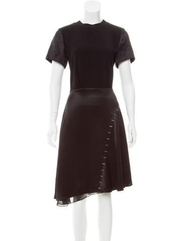 Louis Vuitton Silk-Blend Dress None