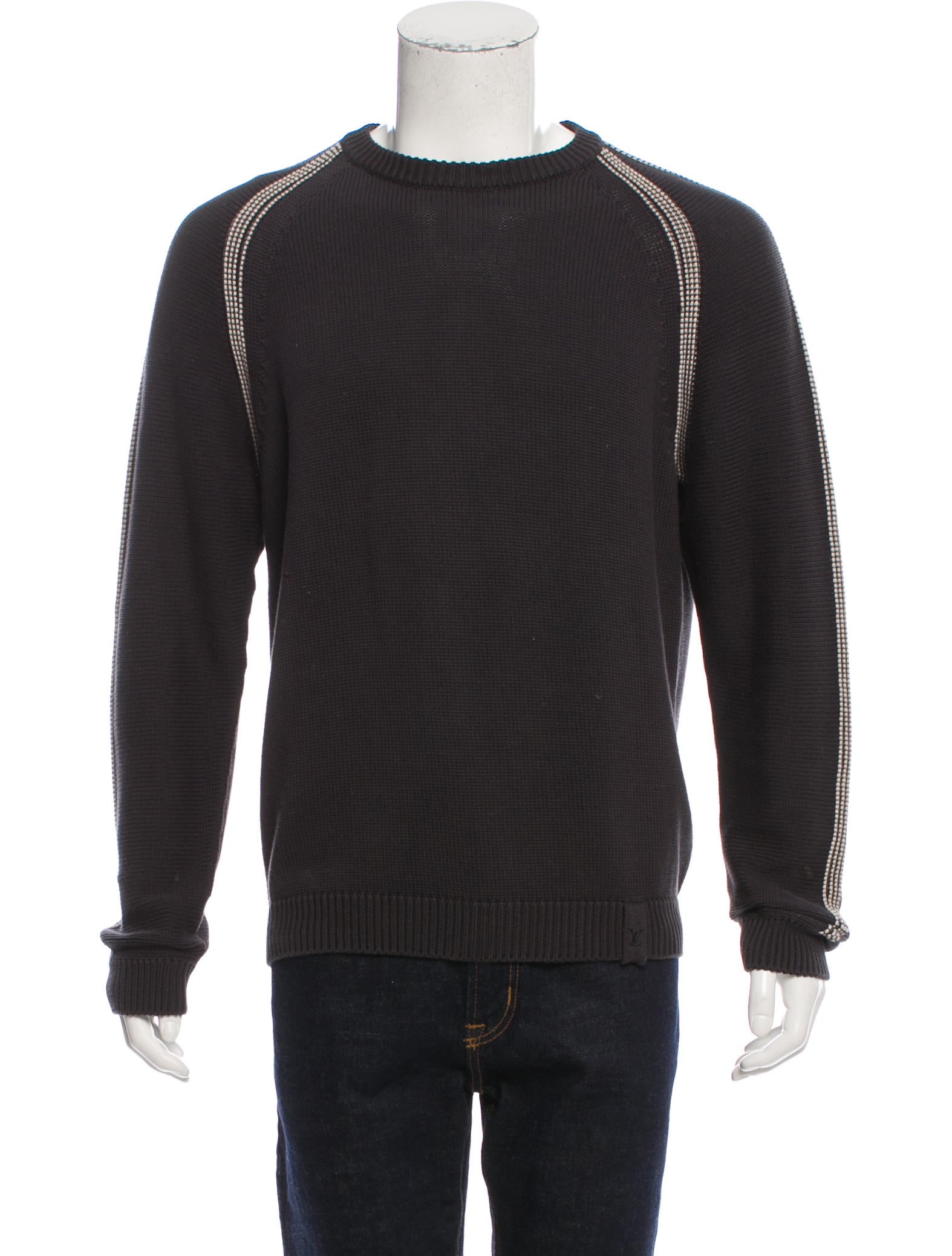 louis vuitton rib knit crew neck sweater clothing. Black Bedroom Furniture Sets. Home Design Ideas