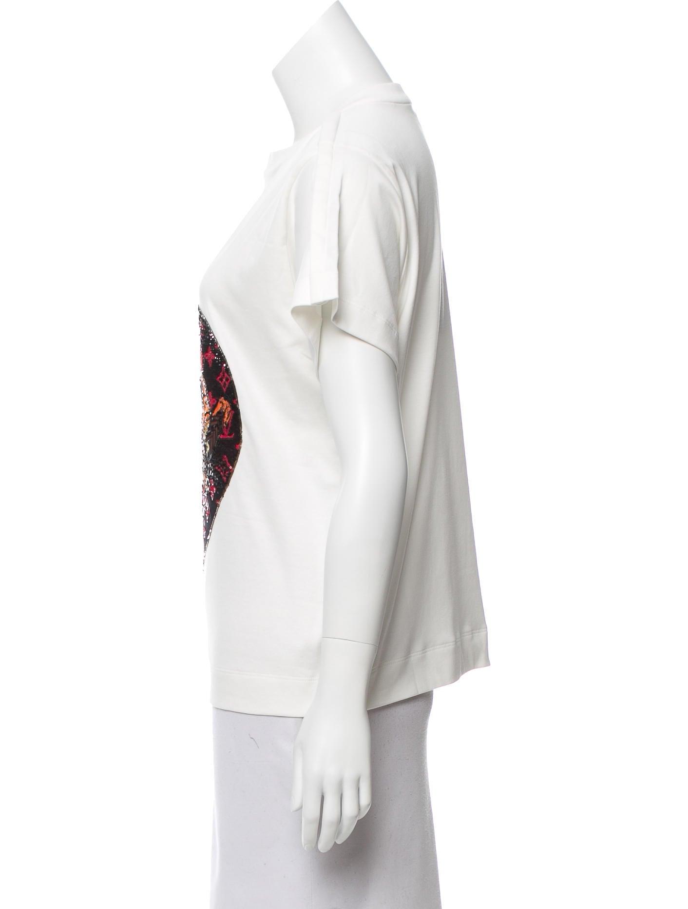 louis vuitton 2018 sequin tshirt w tags clothing
