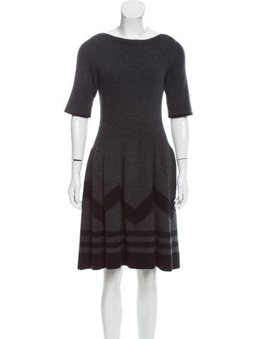 Louis Vuitton Wool A-Line Dress None