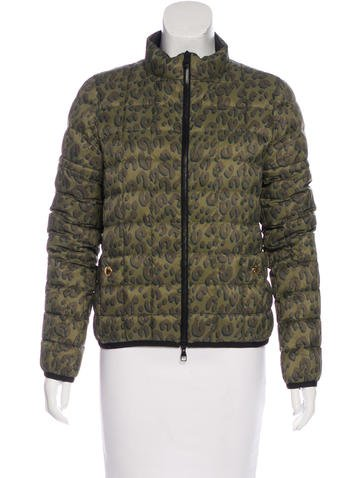 Louis Vuitton Leopard Print Down Jacket