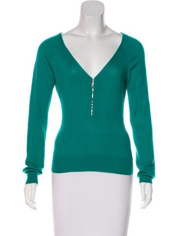 Louis Vuitton Zip-Up Cashmere Sweater None