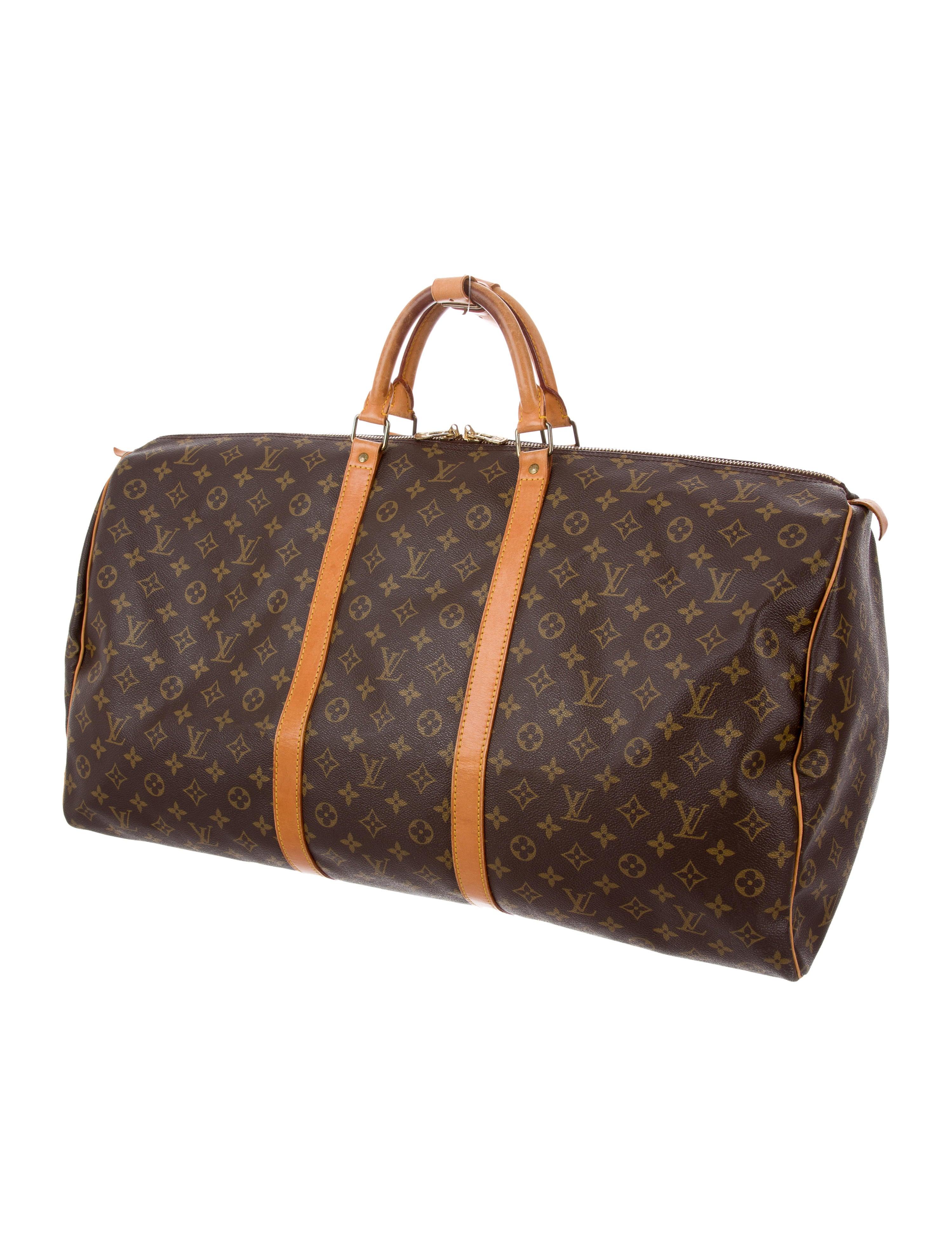 louis vuitton monogram keepall 60 handbags lou139637. Black Bedroom Furniture Sets. Home Design Ideas