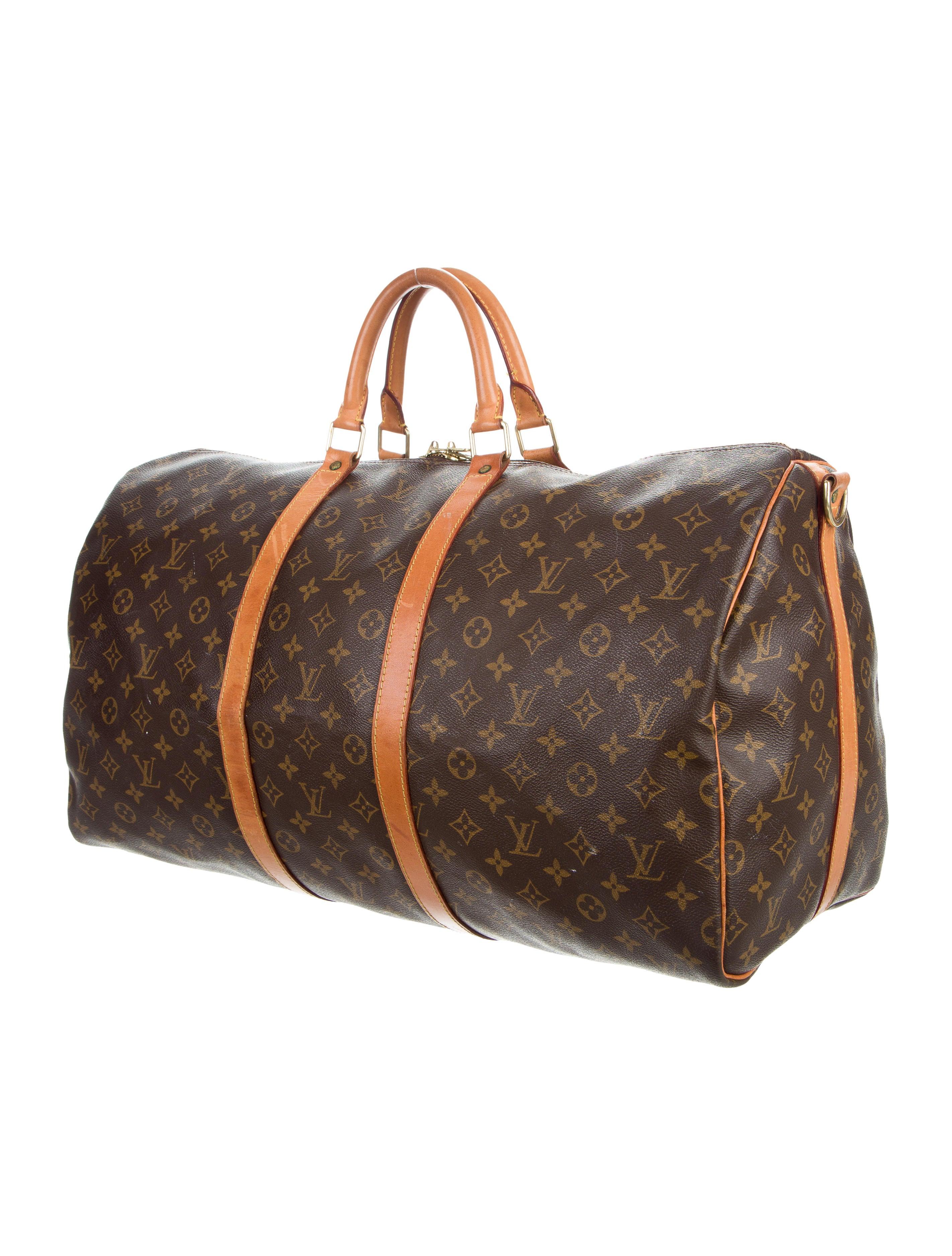 louis vuitton monogram keepall bandouli re 55 bags lou139908 the realreal. Black Bedroom Furniture Sets. Home Design Ideas
